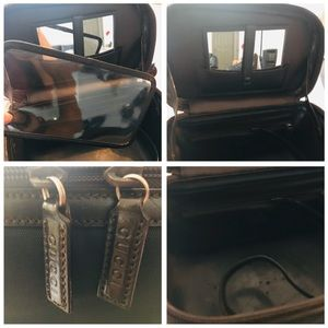 Gucci Bags - GUCCI Bamboo Vanity Leather Shoulder Nylon Bag